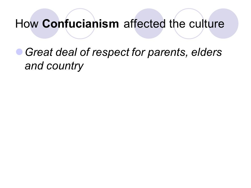 Main beliefs of Confucianism All people need to accept their role in society