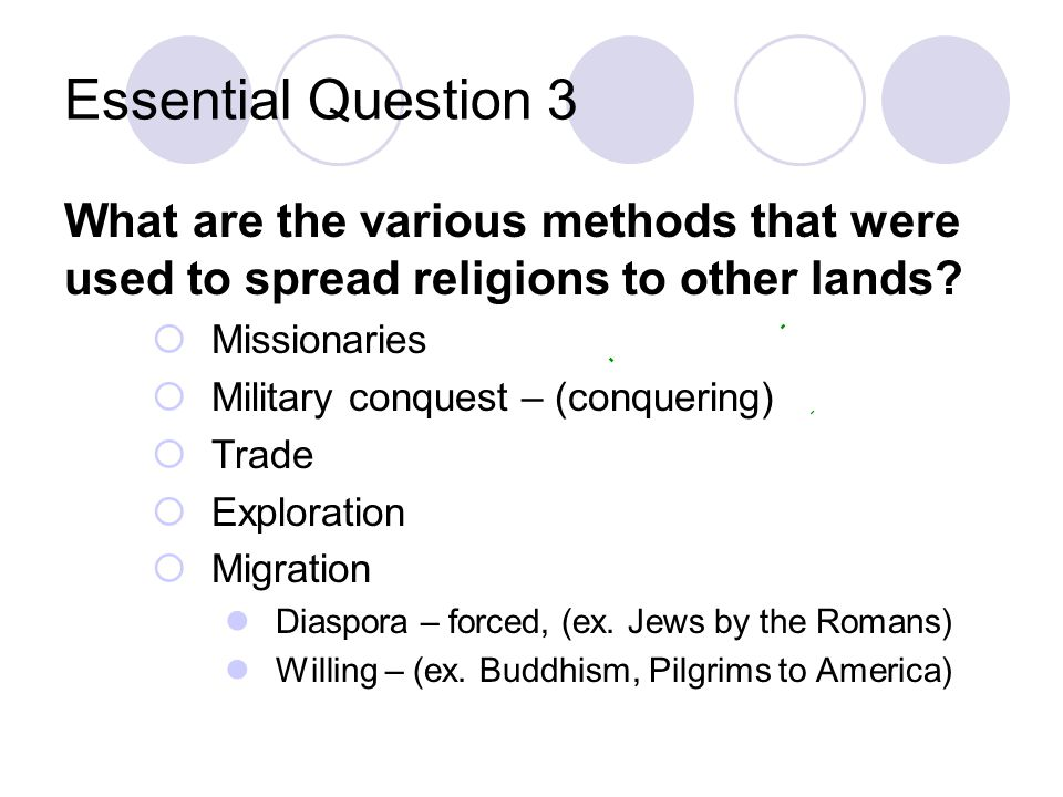 Essential Question 2 What do the religions of Judaism, Christianity, and Islam all have in common? They started in the Middle East Jerusalem is a sacr