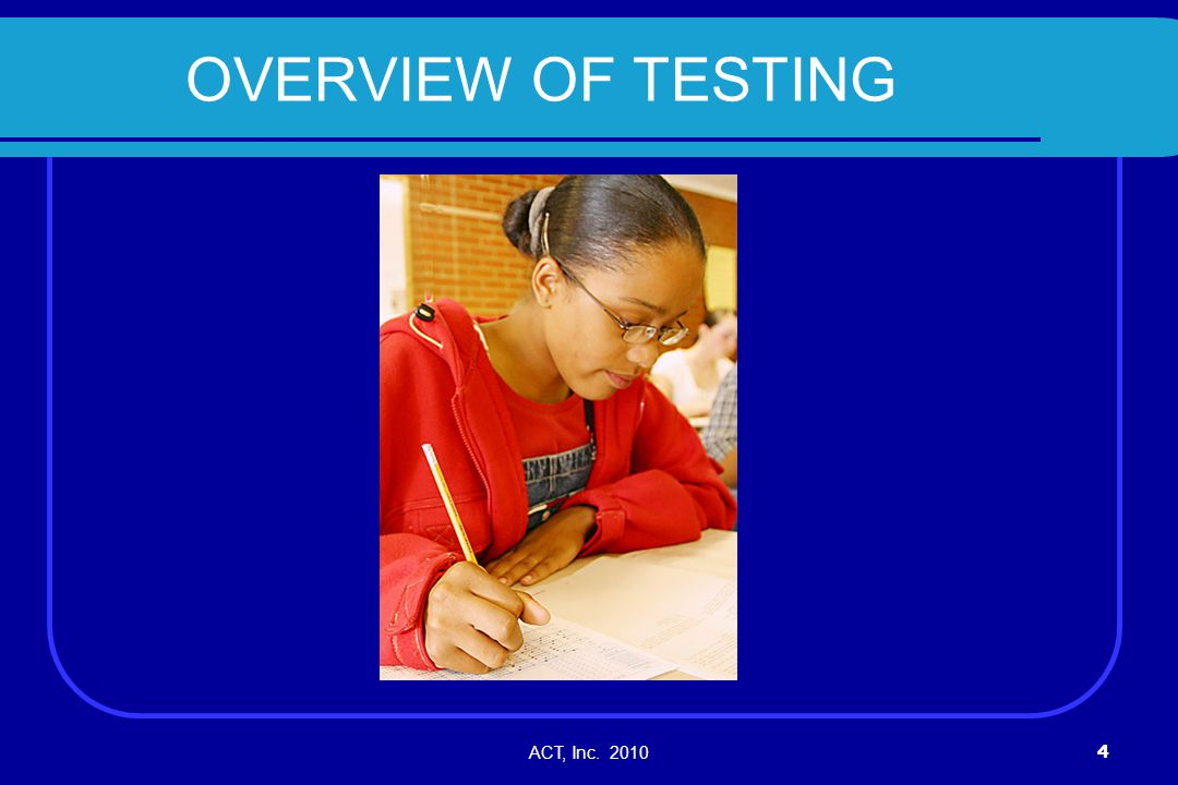ACT, Inc.201075 Keep Test Administrations and Materials Separate.