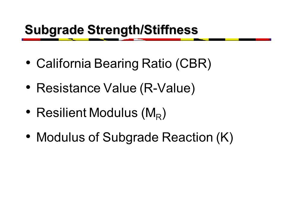Effect of Moisture/Density on M R Moisture Softening Density Stiffening