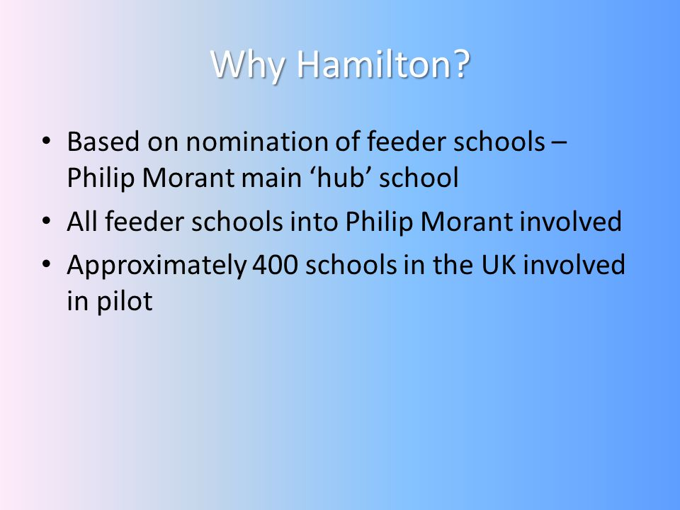 What has happened since the pilot launch to all schools nationally.