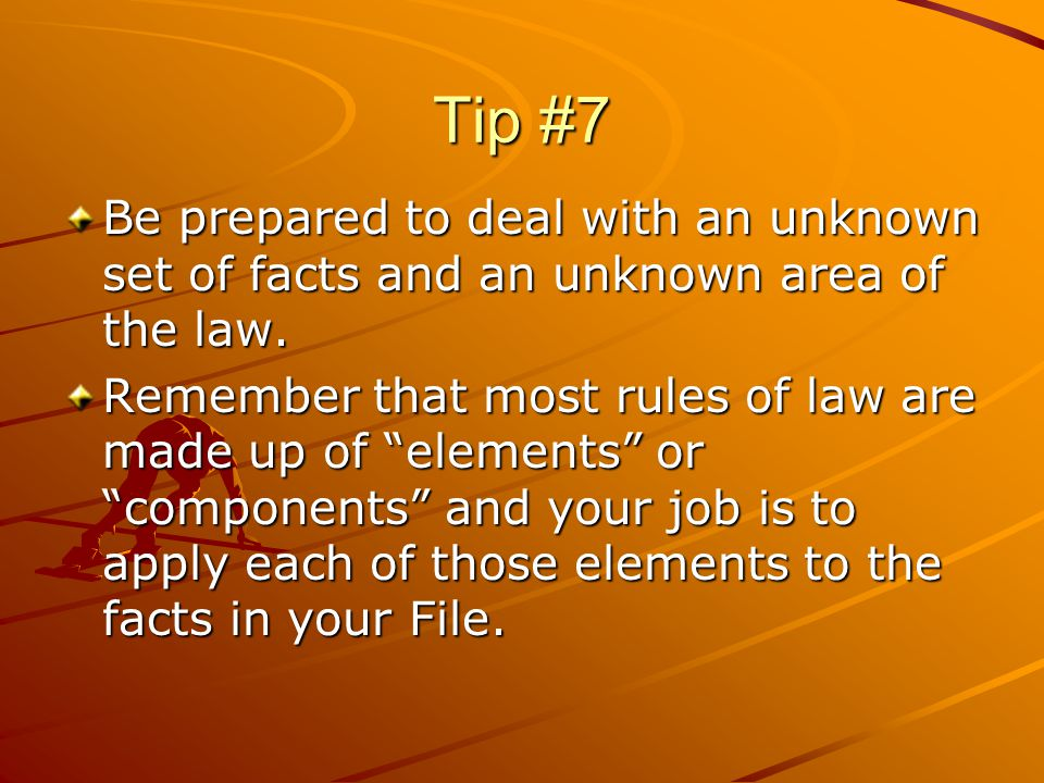Tip #8 Avoid preconceived ideas.