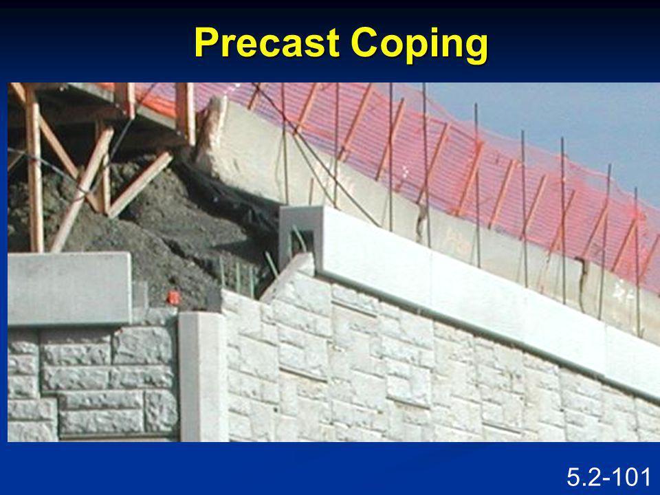 5.2-100 Precast Coping