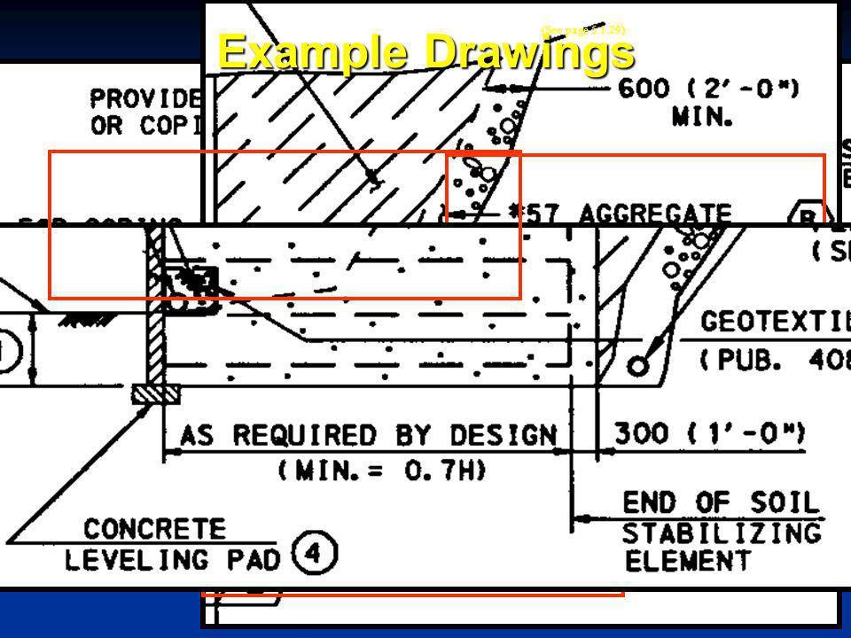 5.1-17 Example Drawings PLAN ELEVATION EL. 399.680 EL. 395.180 PROPOSED GRADE TOP OF PANEL (See page 5.1.27)