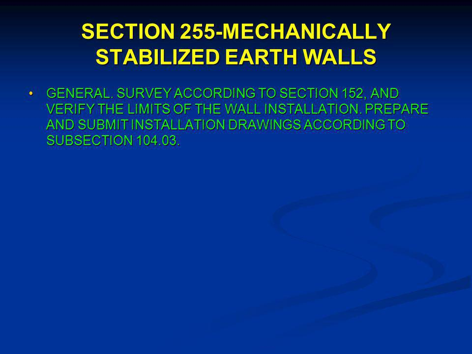 FP-03 Subsection 104.03-SPECIFICATION AND DRAWINGS SPECIFIC REQUIREMENTS FOR CONCRETE AND MISCELLANEOUS STRUCTURES.SPECIFIC REQUIREMENTS FOR CONCRETE