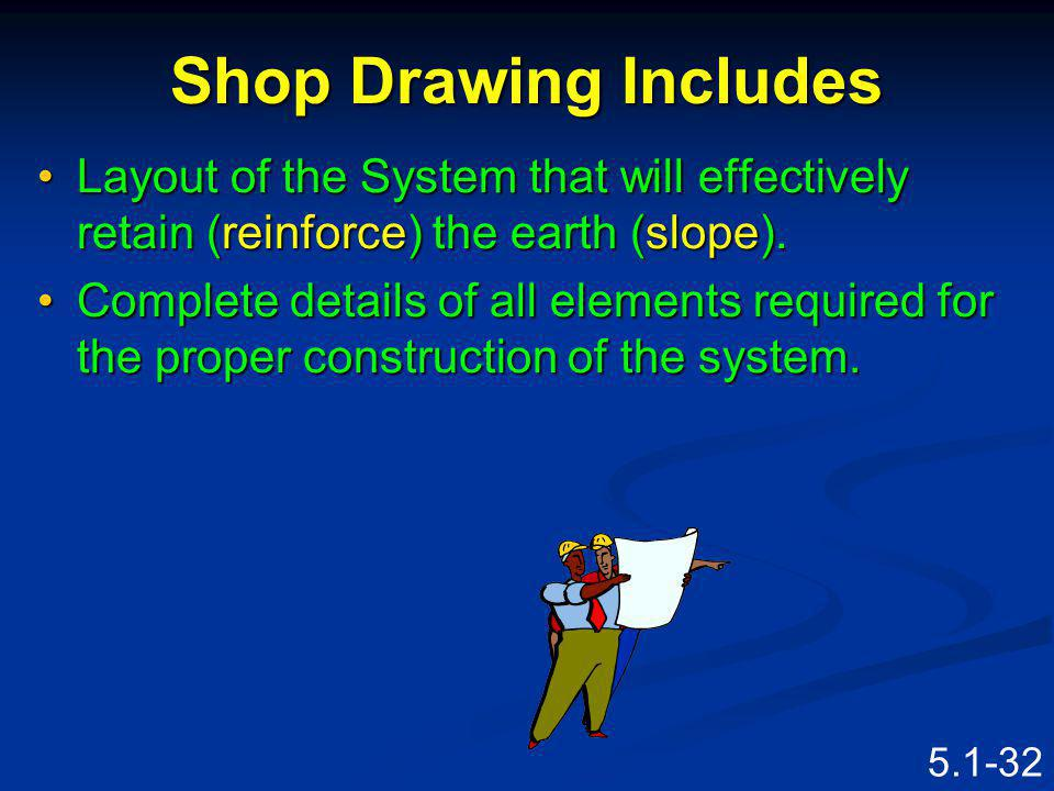 5.1-31 Shop Drawing Is submitted by the Contractor.Is submitted by the Contractor.