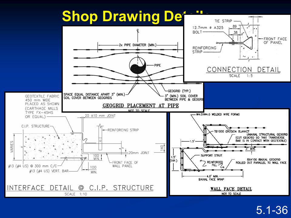 5.1-35 Shop Drawing See full size drawing in Participant Workbook Figure 5.1.6 Shop Drawing for MSE Abutment