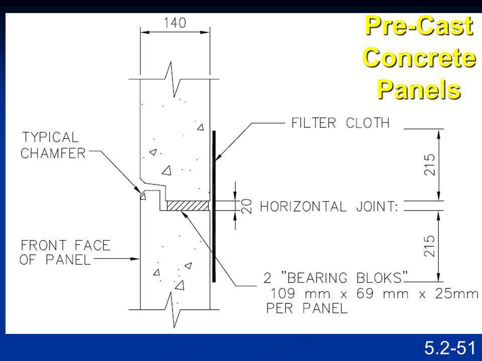 5.2-50 Pre-Cast Concrete Panels
