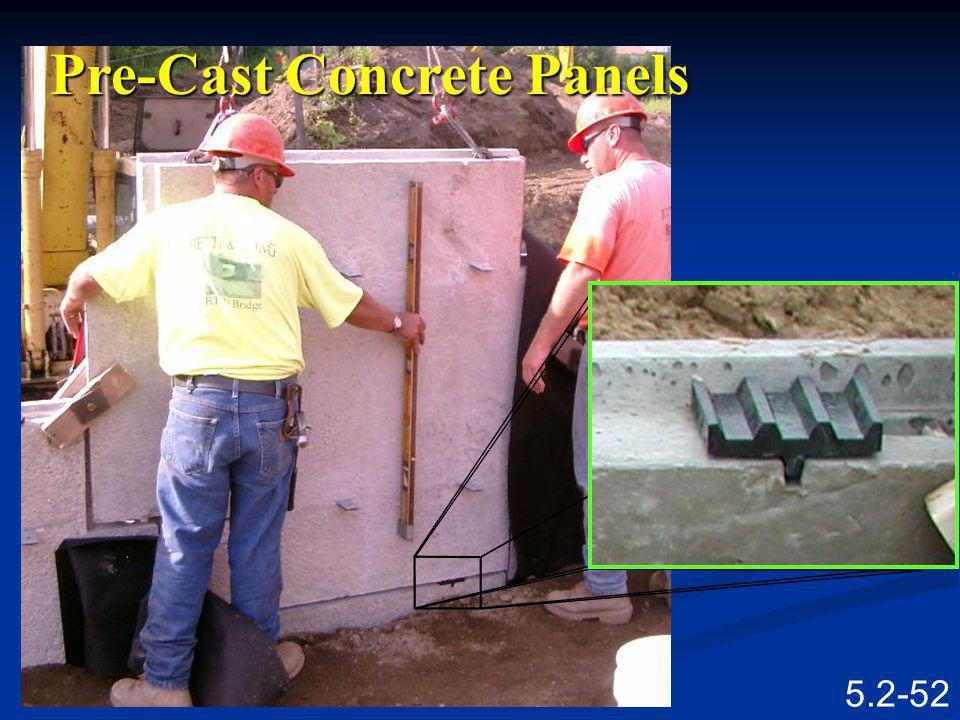 5.2-51 Pre-Cast Concrete Panels