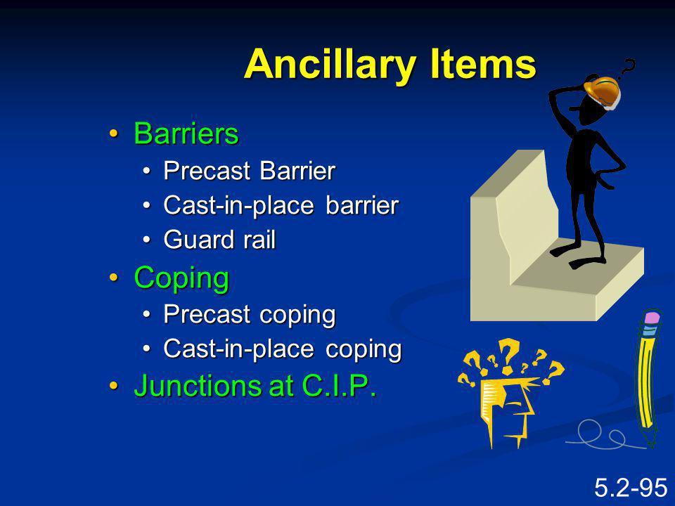 5.2-94 Ancillary Items FExcavation Facin g Reinfo rcing Barrier