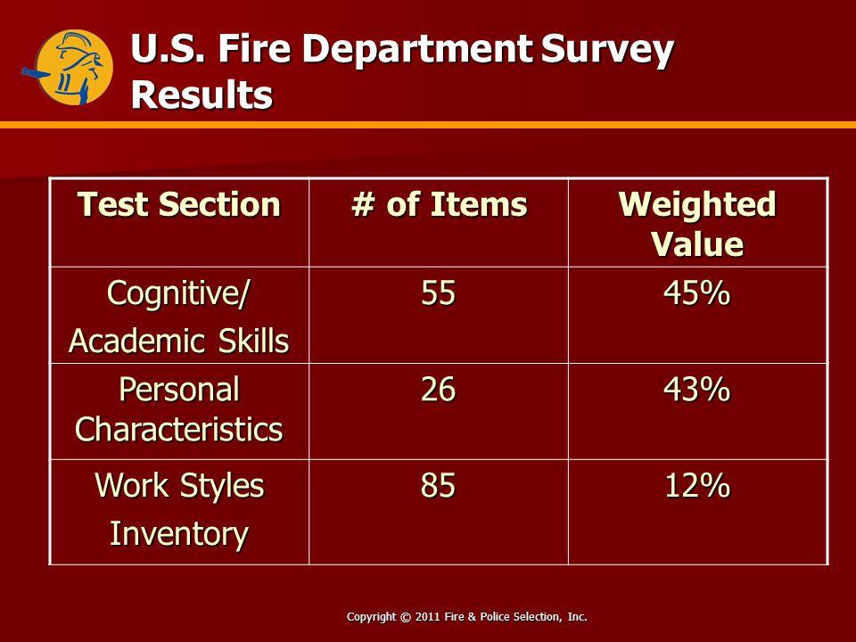 Copyright © 2011 Fire & Police Selection, Inc. U.S.