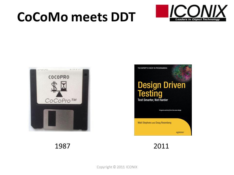 CoCoMo meets DDT Copyright © 2011 ICONIX 19872011