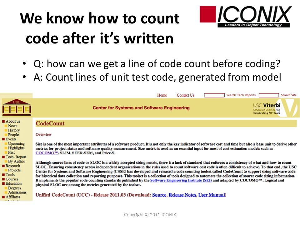Cost estimation via testing.Isnt that backwards??.