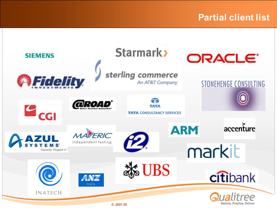 ©. 2007-08 Partial client list