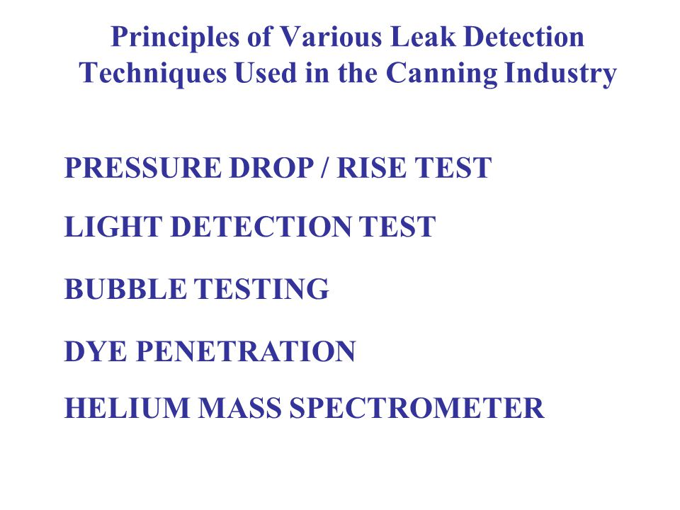 LEAK RATE UNITS 1 atms cc / sec = One cubic centimetre of gas, at atmospheric pressure, every second Leak Types Gross >1 atms cc / sec Medium >0.01 atms cc / sec or 1x10 -2 Micro >0.000001 atms cc / sec or 1x10 -6 Molecular >0.00000001 atms cc / sec or 1x10 -8