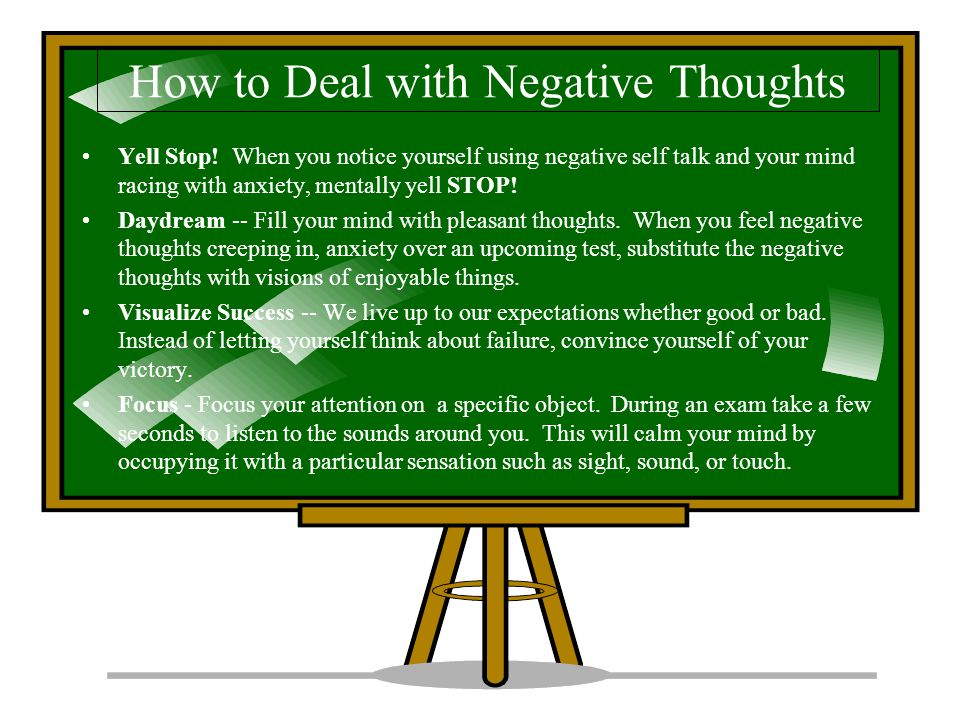 How to Deal with Negative Thoughts Yell Stop.