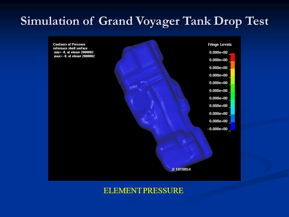 ELEMENT PRESSURE Simulation of Grand Voyager Tank Drop Test