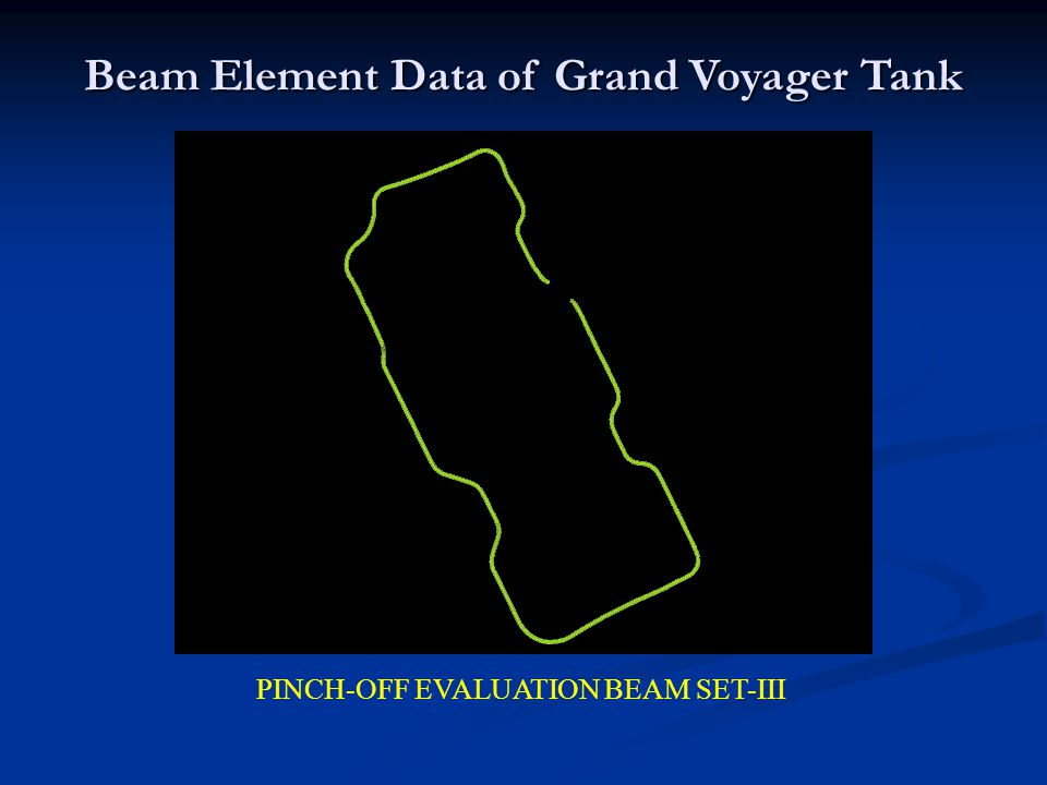 PINCH-OFF EVALUATION BEAM SET-III Beam Element Data of Grand Voyager Tank