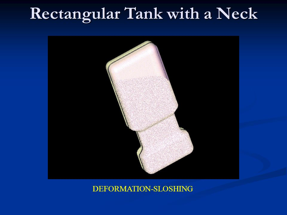 Rectangular Tank with a Neck DEFORMATION-SLOSHING