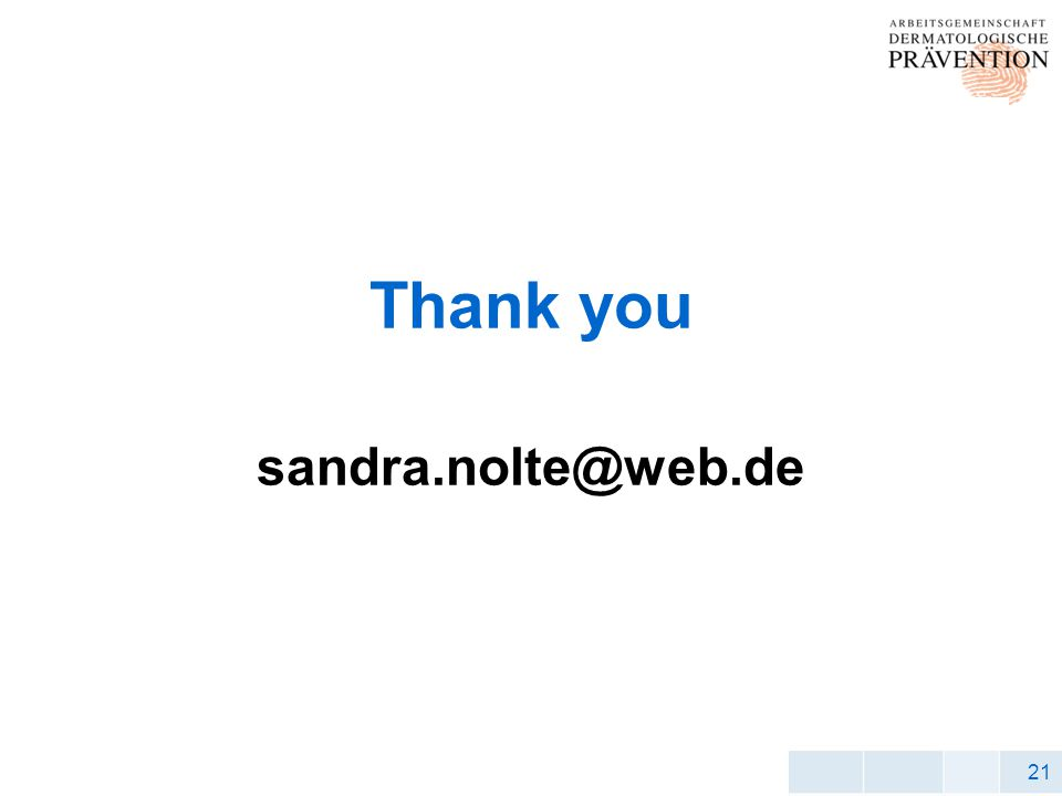 21 Thank you sandra.nolte@web.de