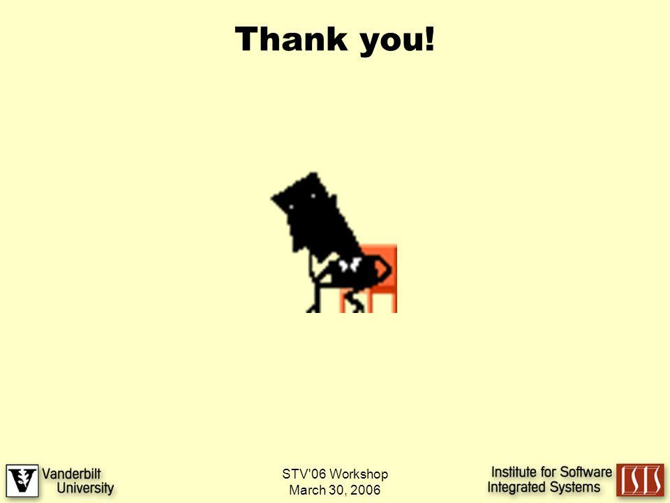 STV 06 Workshop March 30, 2006 Thank you!
