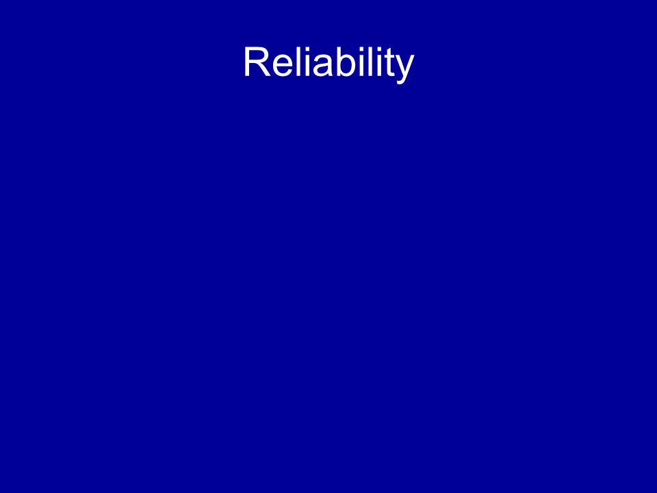 Reporting Reliability