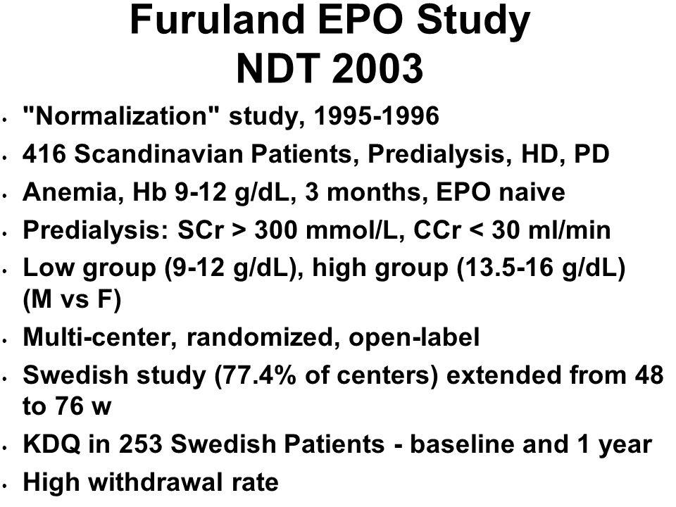 Furuland EPO Study NDT 2003