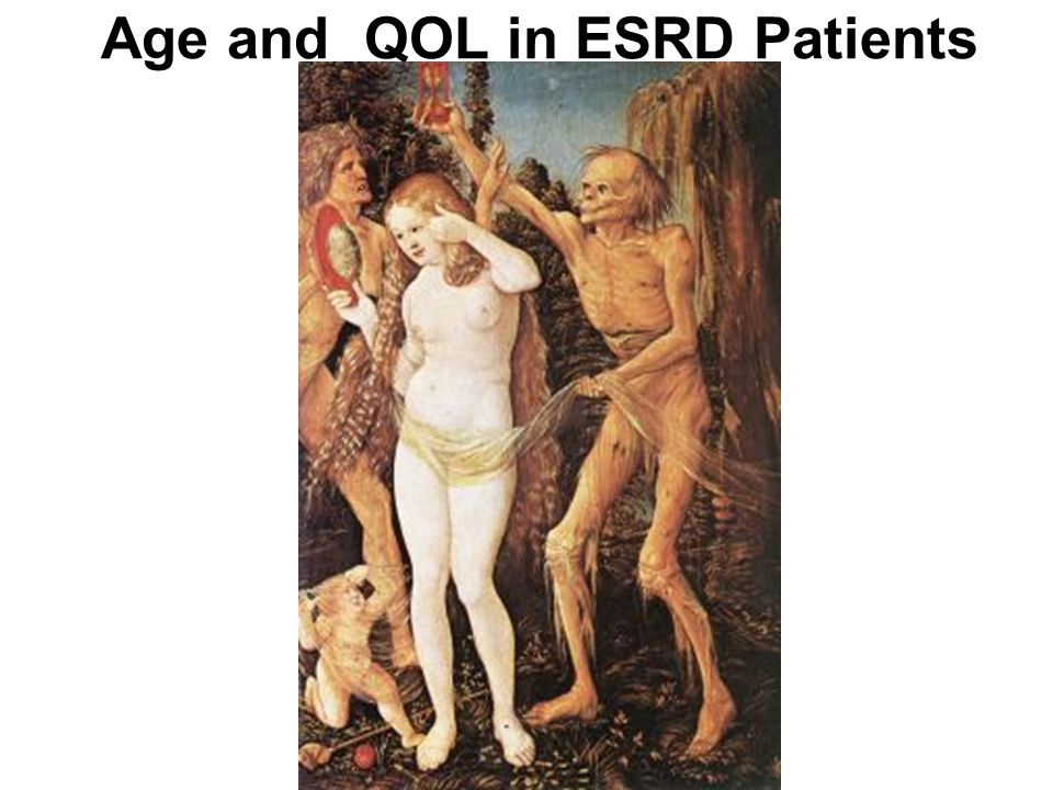 Age and QOL in ESRD Patients