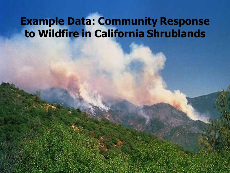 3 Example Data: Community Response to Wildfire in California Shrublands