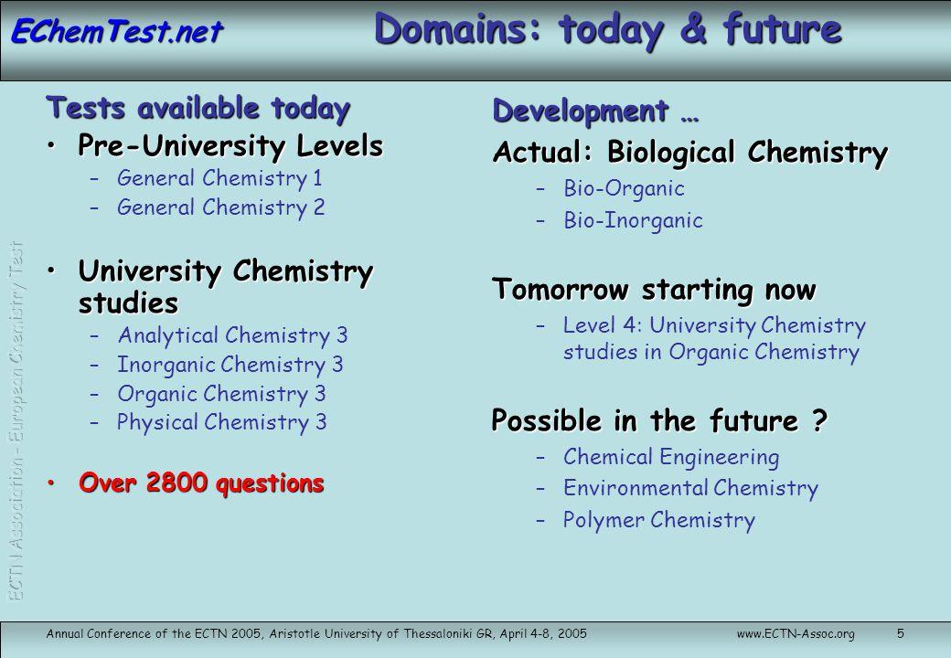 EChemTest.net Technical and Business stuff