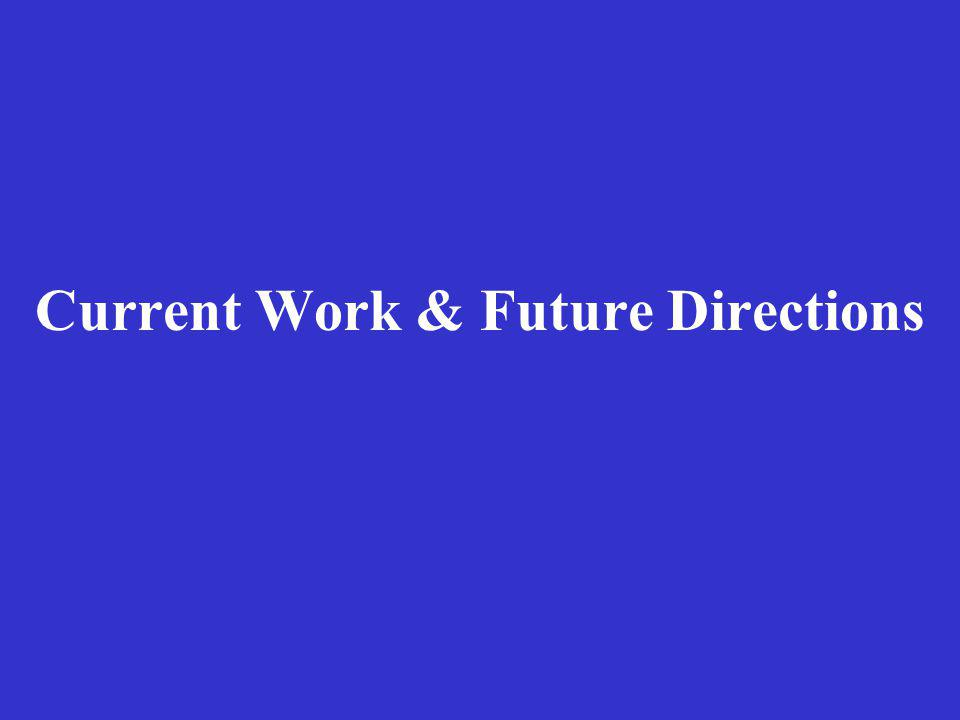 Current Work & Future Directions