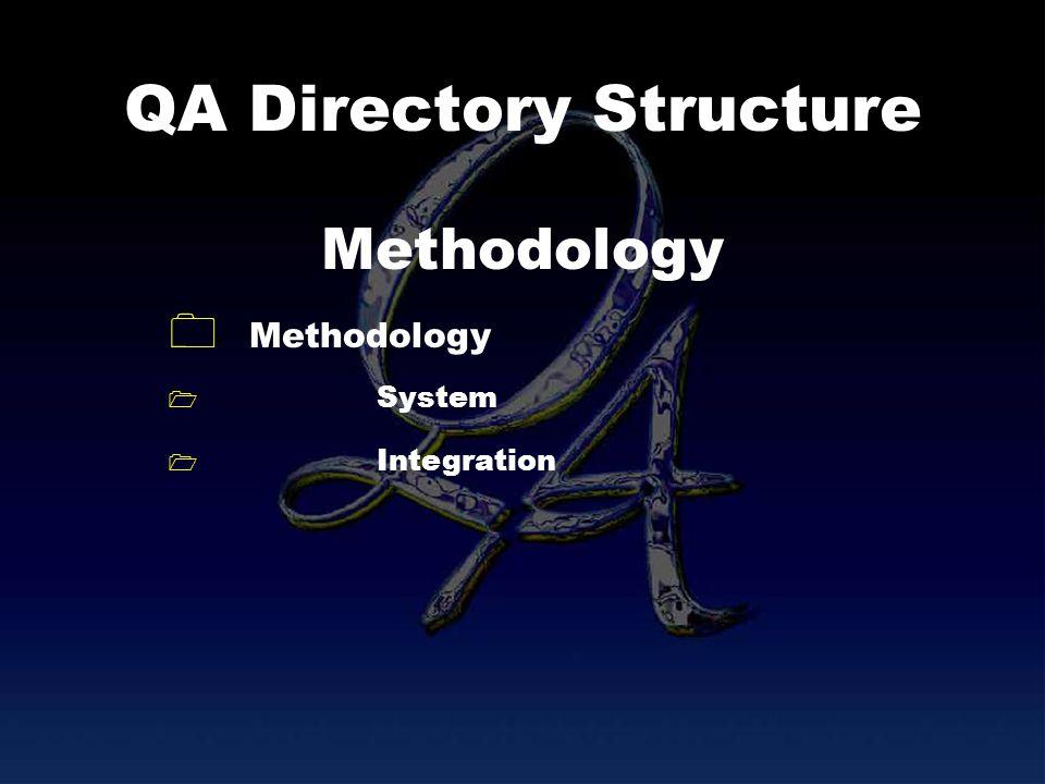 QA Directory Structure Methodology System Integration Methodology
