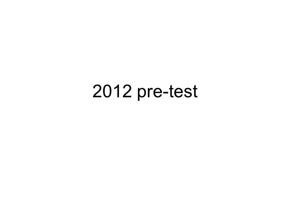 2012 pre-test