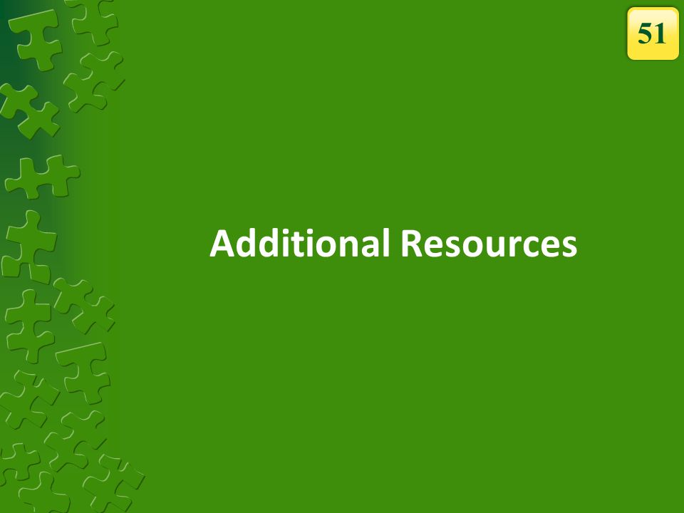 Additional Resources 51