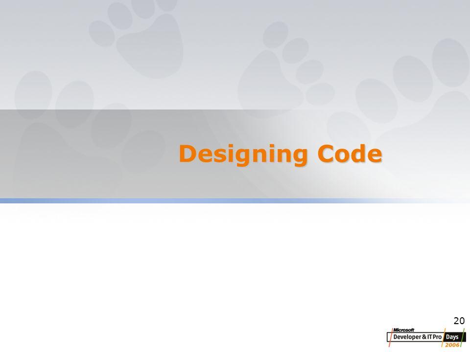 20 Designing Code