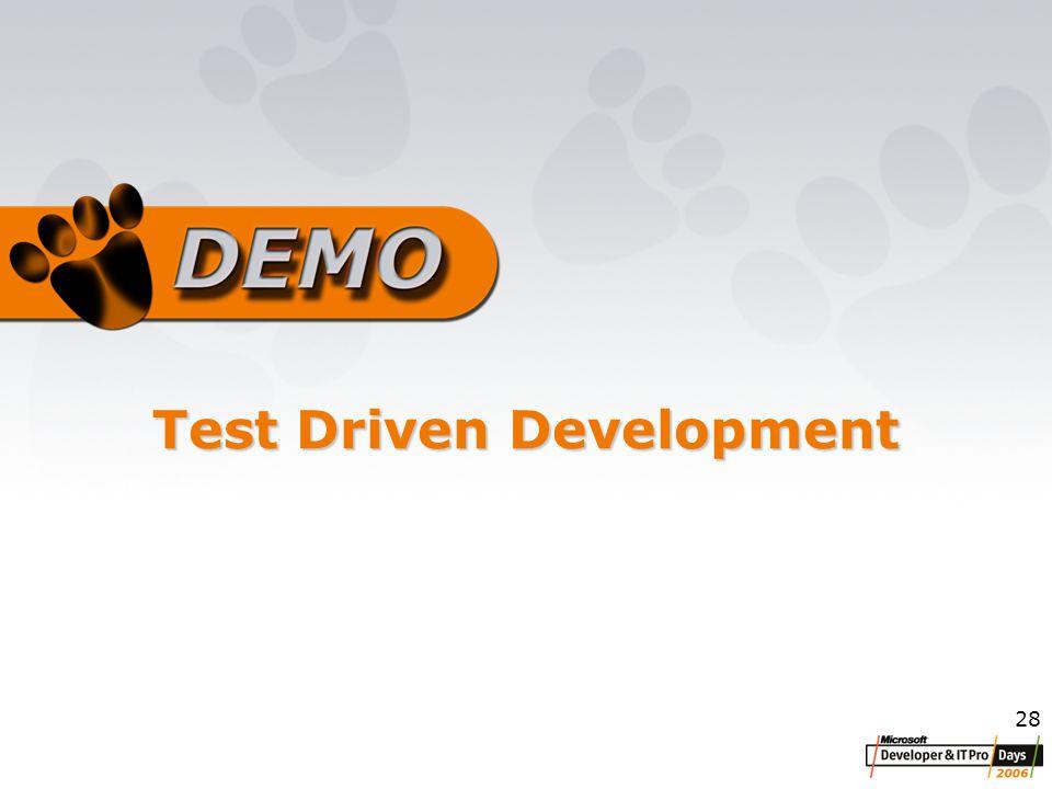 28 Test Driven Development