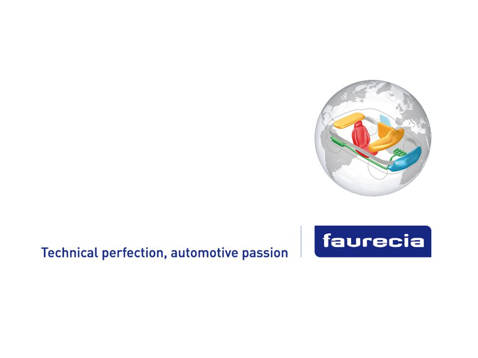Property of Faurecia - Duplication prohibited 13