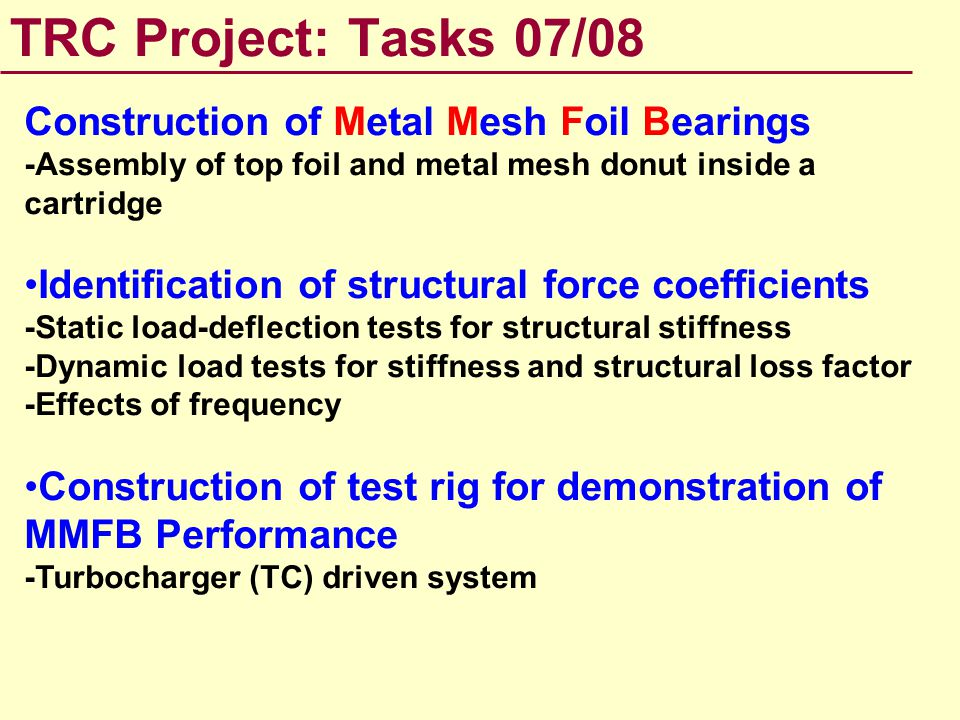 Metal Mesh Foil Bearing (MMFB) Molding of top foil (Heat treatment) Top foil (An initial flat strip and a curved, heat treated foil) Top foil within Metal Mesh Donut MMFB