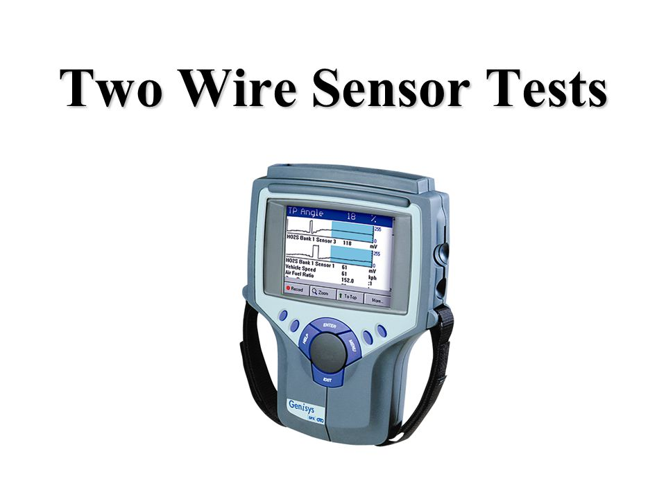 Two Wire Sensor Tests