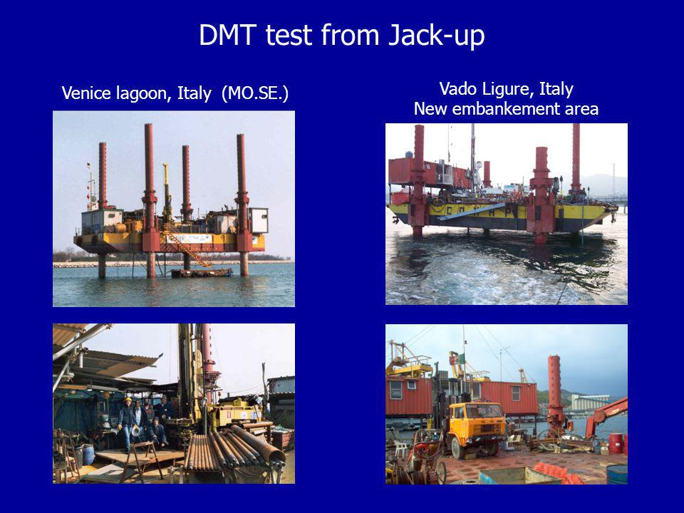 DMT test from Jack-up Venice lagoon, Italy (MO.SE.) Vado Ligure, Italy New embankement area