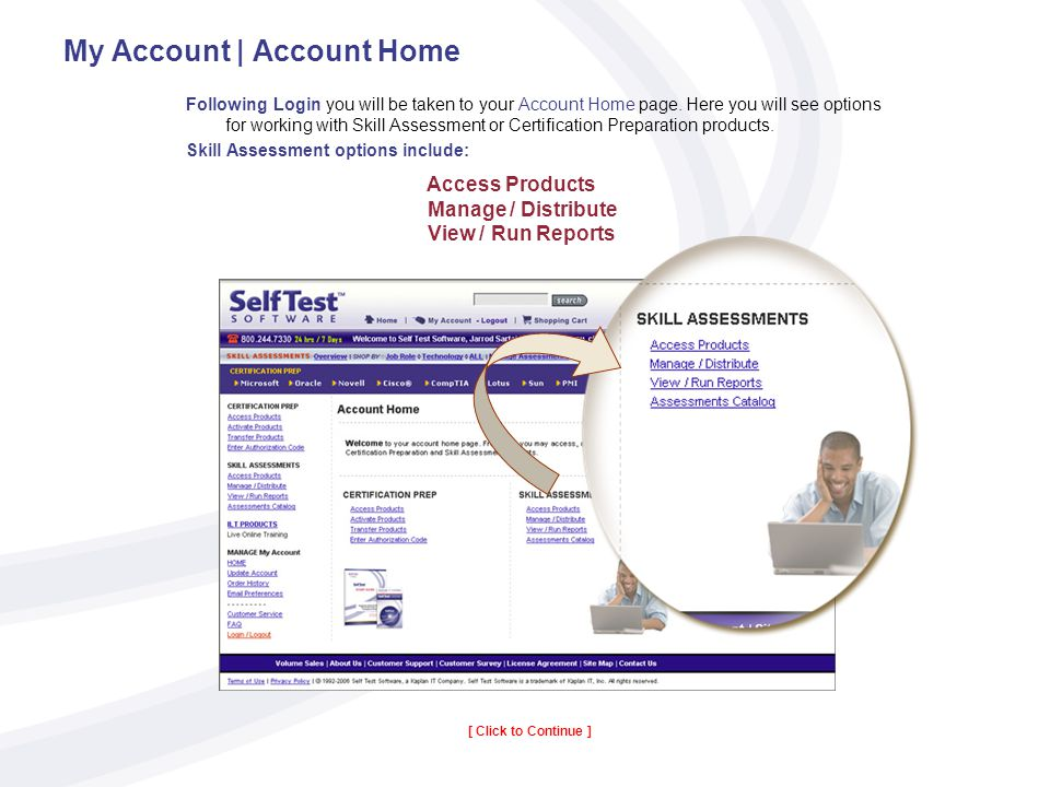 My Account | Account Home Following Login you will be taken to your Account Home page.