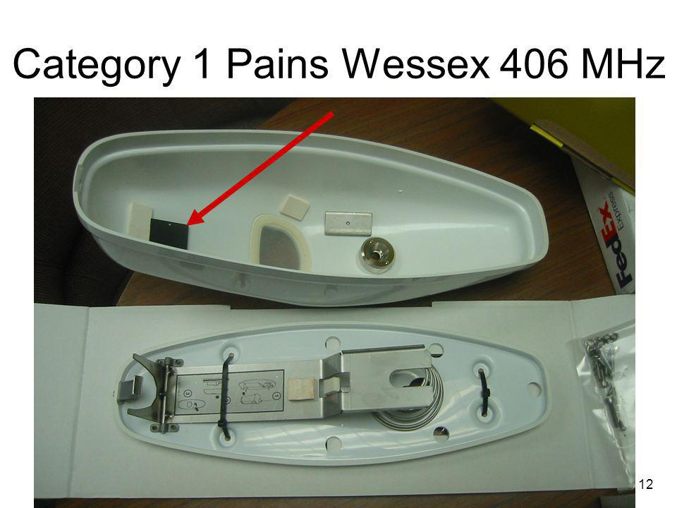 12 Category 1 Pains Wessex 406 MHz