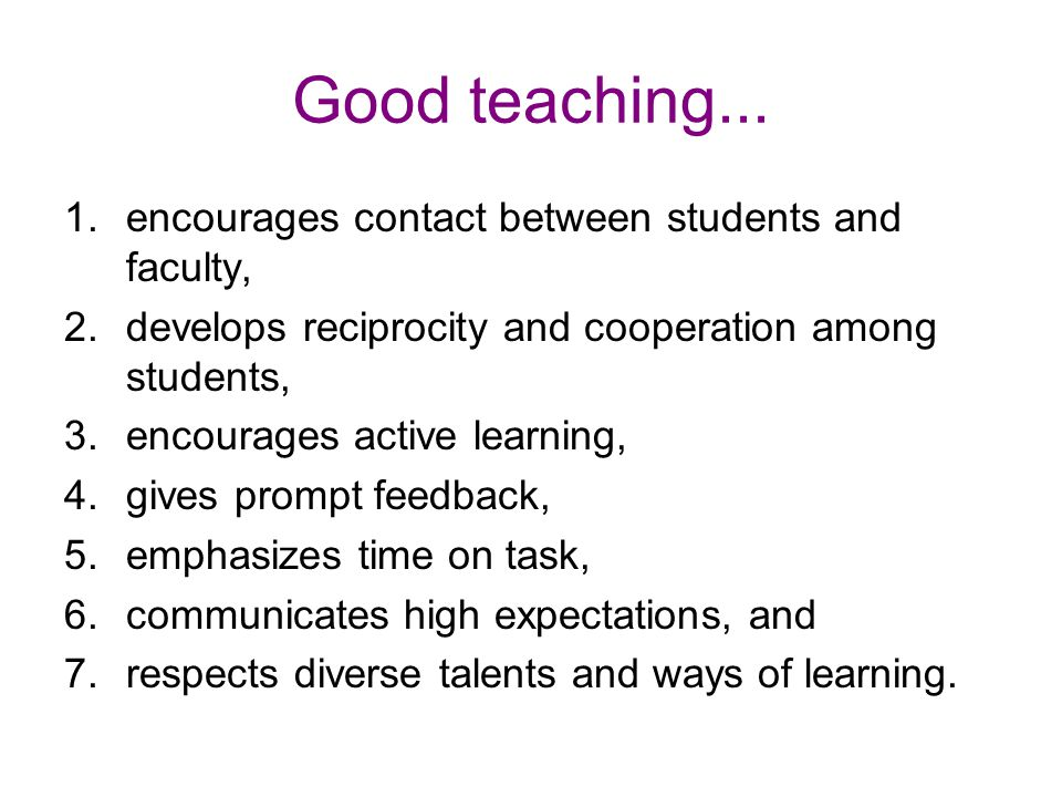 Good teaching...