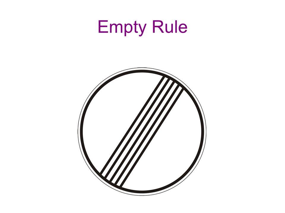 Empty Rule