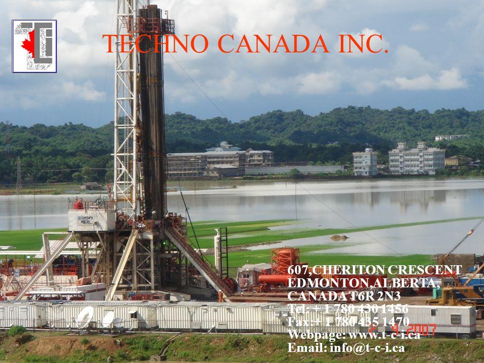 TECHNO CANADA INC. 607,CHERITON CRESCENT EDMONTON,ALBERTA, CANADA T6R 2N3 Tel: + 1 780 430 1456 Fax:+ 1 780 435 1470 Webpage: www.t-c-i.ca Email: info