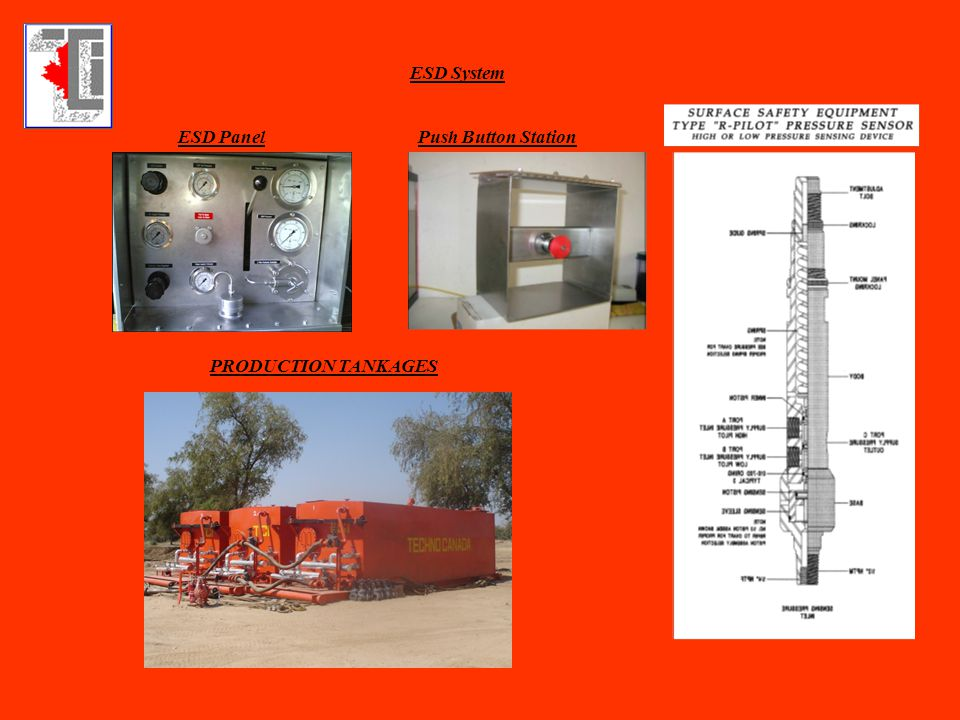 ESD System ESD PanelPush Button Station PRODUCTION TANKAGES