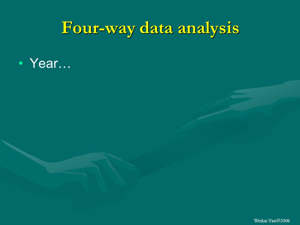 Weikai Yan 2006 Four-way data analysis Year…