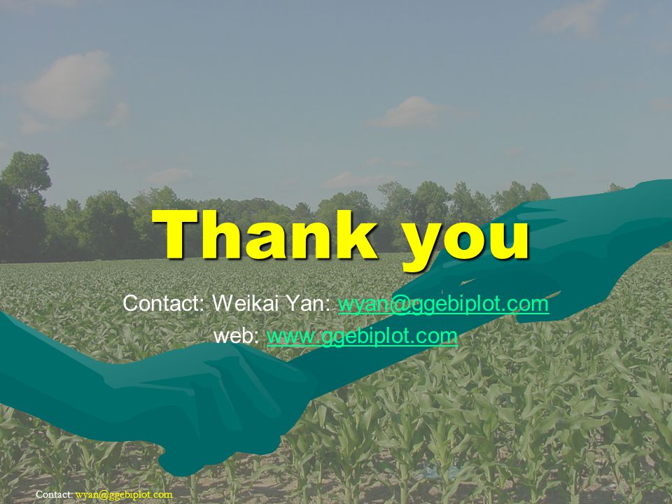 Contact: Thank you Contact: Weikai Yan: web: