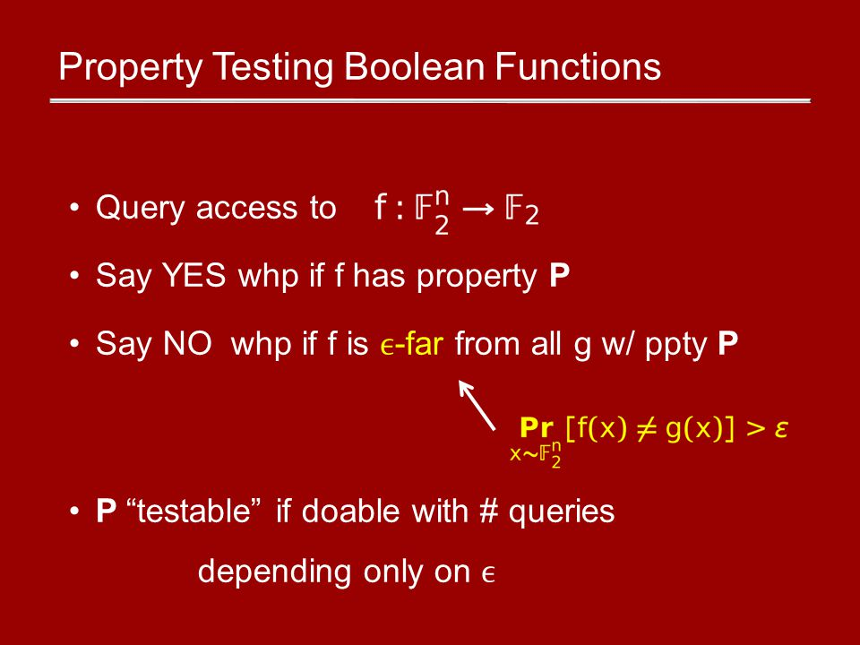 Other results Result 3: Lower bounds.