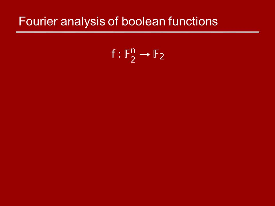Fourier analysis of boolean functions